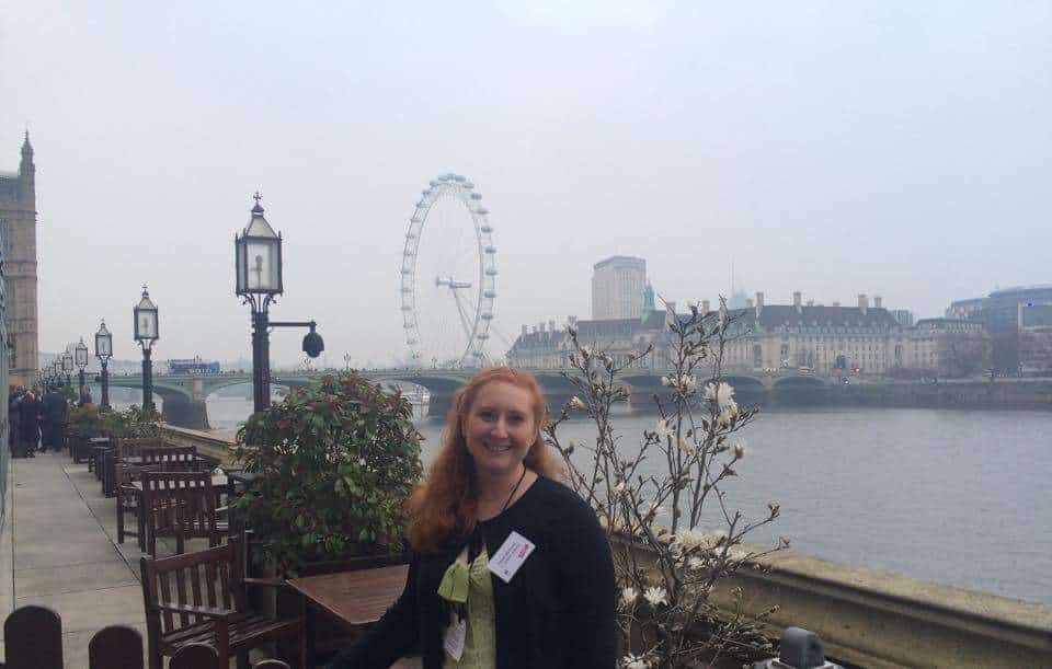 Club President, Sarah Metrustry, at House of Lords
