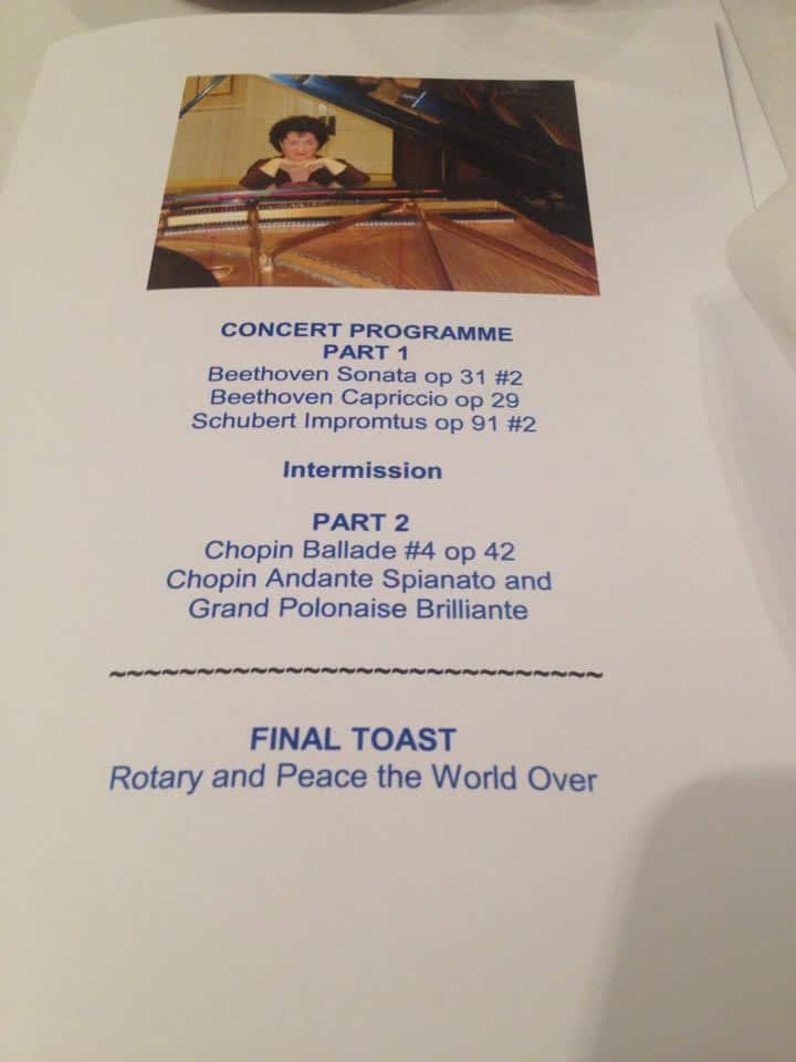 Supporting Rotary Club of London - Spring Concert Programme
