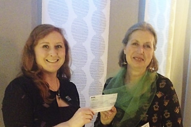 Roots & Shoots handover of cheque